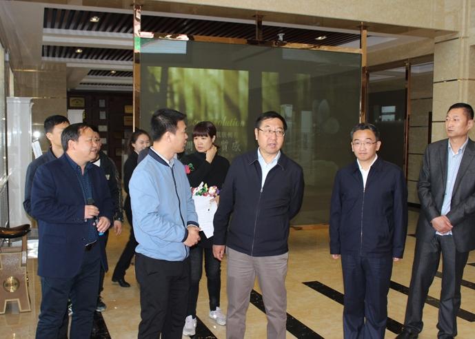哈尔滨市委常委、政府副市长石嘉兴莅临鼎鑫公司视察新建项目