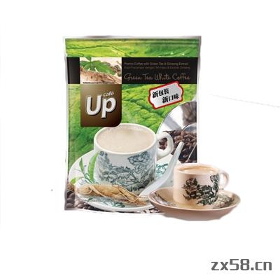 长青UP绿茶白咖啡