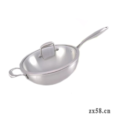 铸源不锈钢复合炒锅
