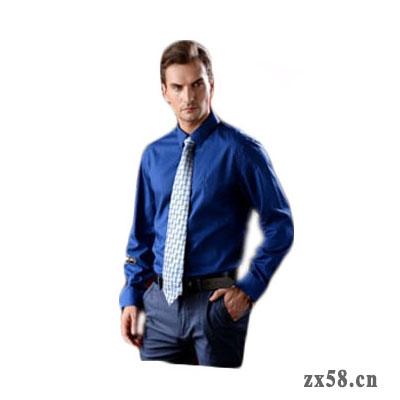 绿之韵商务长袖男衬衫(蓝色)