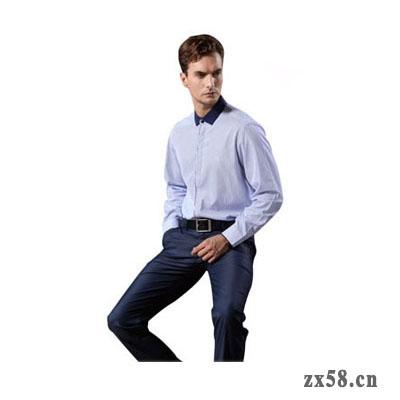 绿之韵休闲长袖男衬衫(蓝领)