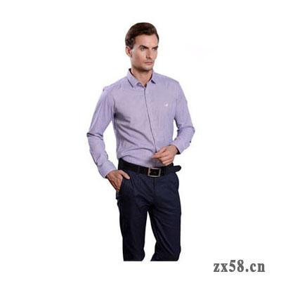 绿之韵商务长袖男衬衫(蓝色/紫色)