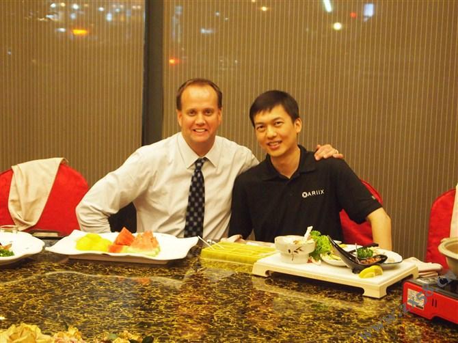 与范库伯台湾聚餐