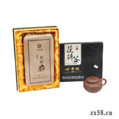 华莱十年陈茯砖茶
